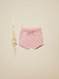 Bloomer en tricot bois de rose fille   VORIANE 19 / 19IV2211N25312