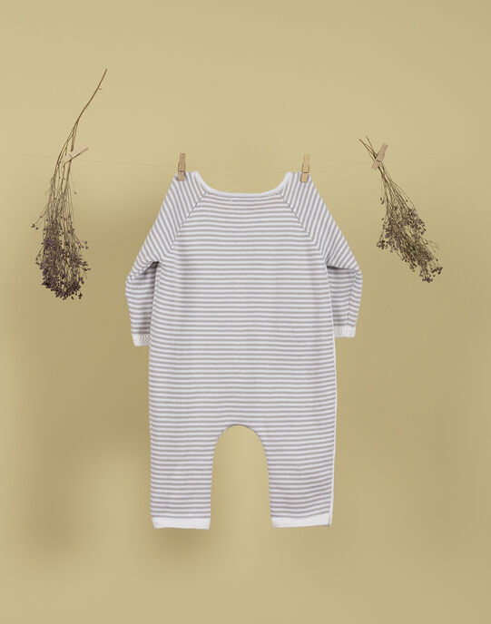 Combinaison tricotée gris chiné mixte TACO 19 / 19PV2421N26943