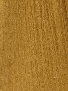 Blouse fines bretelles enfant fille brodée en gaze de coton bronze  CLEMENCE 468 21 / 21V129113N09900