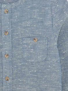 Chemise enfant garçon en chambray bleu CANDIDE 468 21 / 21V129212N0A721