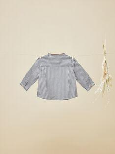 Chemise noire rayée en popeline bébé garçon  VIGO 19 / 19IU2012N0A090