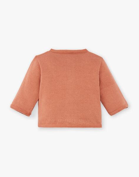 Gilet fille tricot couleur pécan DENTELLE 21 / 21PV2211N11I821