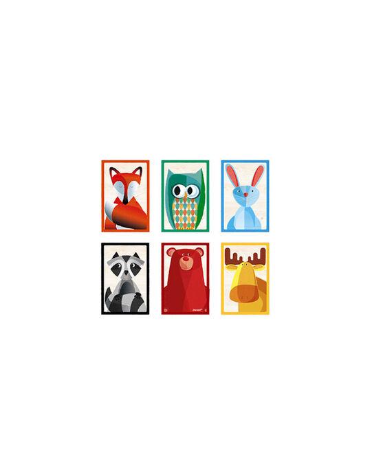 Barquette de 6 cubes animaux de la forêt Zigolo BARQUETTE 6 CUB / 16PJJO006JBO999
