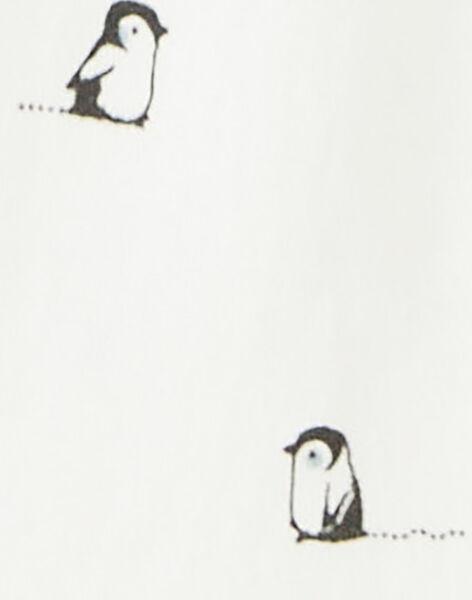Body manche longue vanille imprime´ pingouin garc¸on  BRICE 20 / 20IU2052N67114