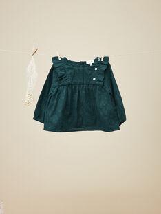 Blouse en coton avec motif floral vert fille  VEHANNA 19 / 19IU1932N09608