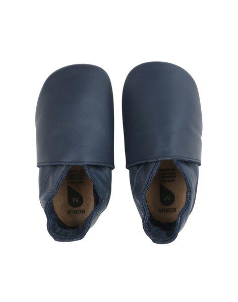 Chausson cuir classics bleu marine 3 9 mois CHAUS BLEU S / 20PBDP006SOU070