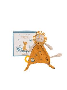 Doudou attache tetine lion moulin roty DOUDOU LION / 20PJPE001PPE999