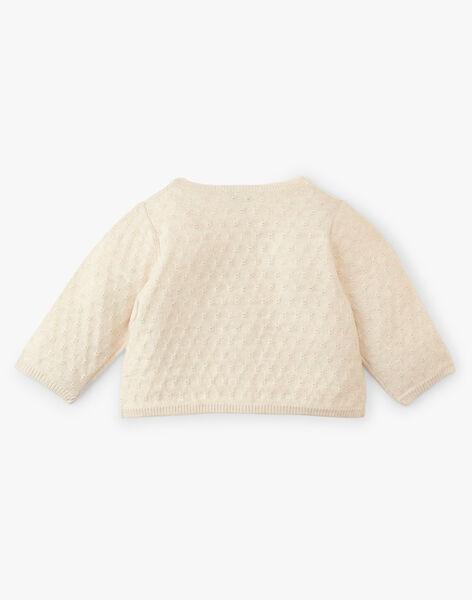 Cardigan fille coton cachemire couleur naturel chiné  AMELIE 20 / 20VV2211N11A010