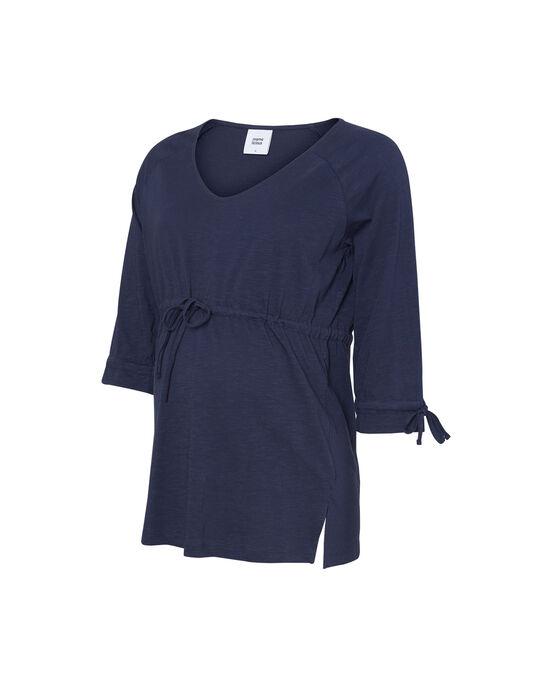Tunique de grossesse bleu nuit en coton bio  MLDELRAY TOP / 19VW2684N3E713