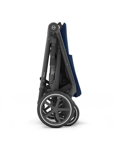 Poussette gazelle s chassis noirâ siege bleu mari POU GAZ S BL NO / 21PBPO002POU999