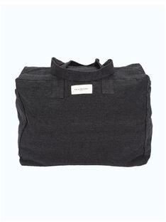 Sac à langer en coton recyclé Célestins Rive Droite noir 33x42x20 cm SCC CELESTIN NO / 19PBDP007SCC090