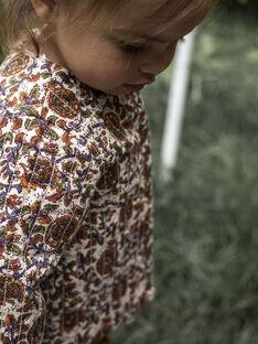 Veste molletonée écrue imprimé fleuri bébé fille DAYA 21 / 21IU1911N17003