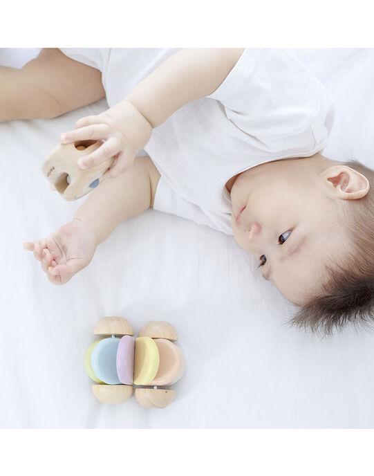 Jouet voiture bébé Plan Toys multicolore 8,3x10x7 cm dès 6 mois VOIT BB PASTEL / 19PJJO005JBO999