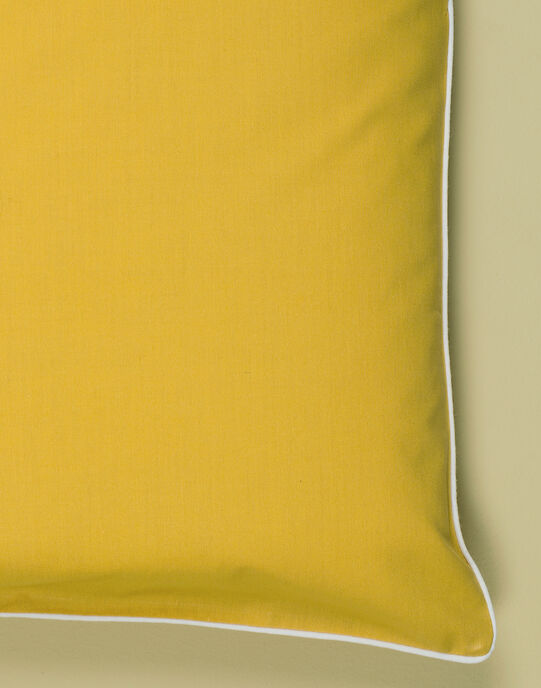 Parure de lit miel à pois blancs : housse de couette 110x140cm cm et taie d'oreiller mixte TICOUETTE 19 / 19VQ6421N57107