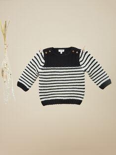 Pull en tricot rayé noir garçon   VINNY 19 / 19IU2021N13090