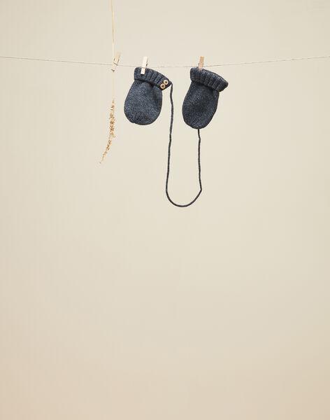 Moufles en tricot gris anthracite garçon  VIGANT 19 / 19IU6131N51944