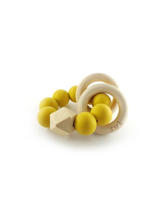 Hochet à billes SMA Sweden jaune HOCHET MOUTARD / 19PJJO001HOCB106