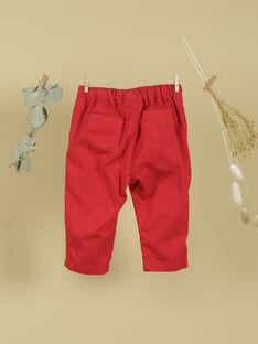 Pantalon rouge coquelicot fille TOSINEADE 19 / 19VU1912N03F505