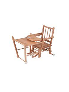 Chaise haute transformable à barreaux vernis naturel CHAISE TRANS NA / 15PRR2005CHH009