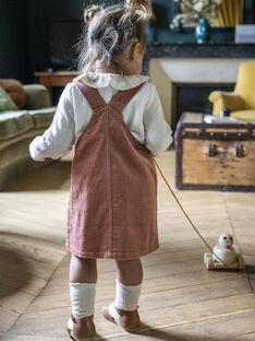 Robe salopette en velours côtelé vieux rose bébé fille DELIA 21 / 21IU1917N18303