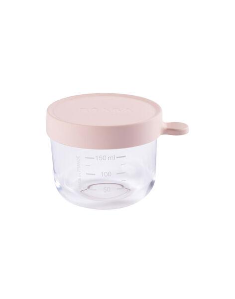 Pot de conservation en verre Béaba rose 150 mL dès 4 mois PORTION 150 ROS / 19PRR2001VAI030