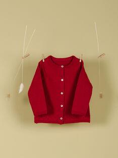 Cardigan rouge coquelicot fille TOMAYA 19 / 19VU1911N11F505