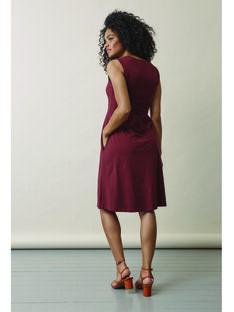 Robe de grossesse & allaitement coton bio Boob bordeaux BOTILDA / 20VW2641N18503