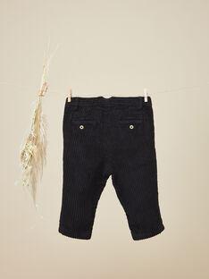 Pantalon en velours côtelé noir garçon   VLASI 19 / 19IU2036N03090