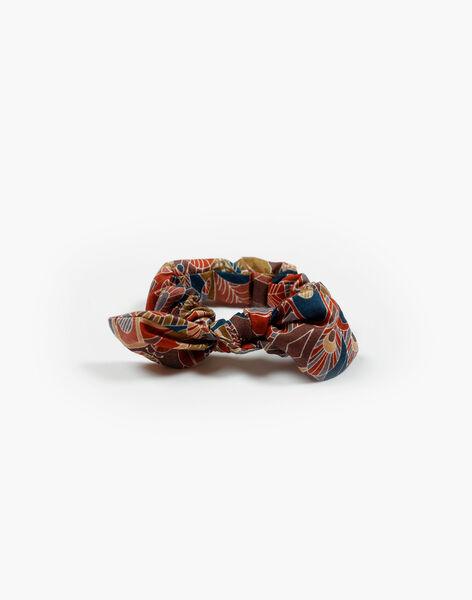 Chouchou fille terracotta en imprimé Liberty floral CANOIPA 21 / 21VU6026N95E415
