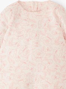 Grenouillère fille Imprimé pivoines rose coton pima  APAOLINETTE 20 / 20VX653AN32114