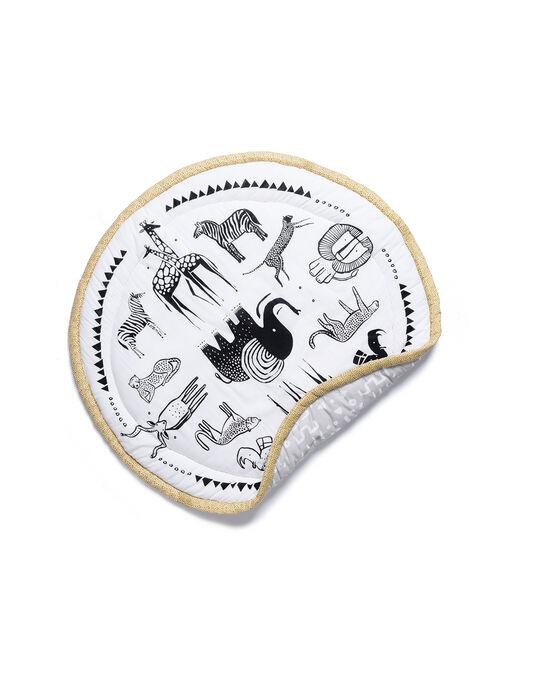 Tapis d'éveil Safari Wee Gallery noir et blanc 0-1 an TAPIS EVEIL SAF / 19PJJO002TEV999