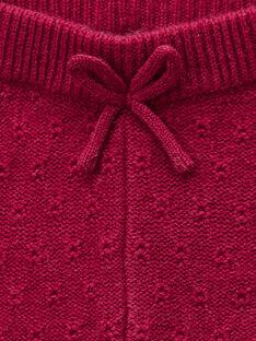 Legging en tricot rose framboise fille   VICTOIRE 19 / 19IU1912N3A308