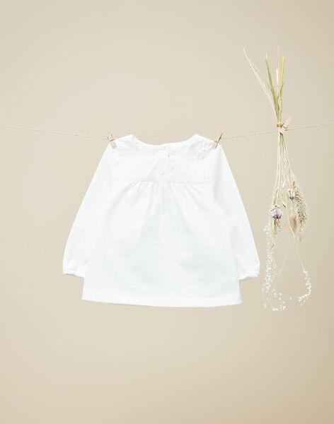 Tee-shirt manches longues vanille fille  VANICOLE 19 / 19IU1931N0F114