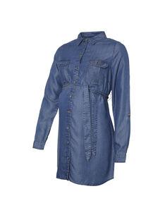Tunique de grossesse et d'allaitement en jean bleu MLLYDIA TUNIC / 19VW2681N3E704