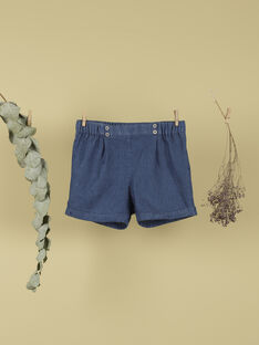 Short en jean bleu fille TEBONY 19 / 19VU1931N02704