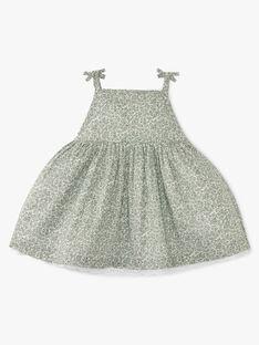 Robe bain de soleil et bloomer fille en imprimé Liberty petites fleurs vertes   ADONIA 20 / 20VU1926N18602
