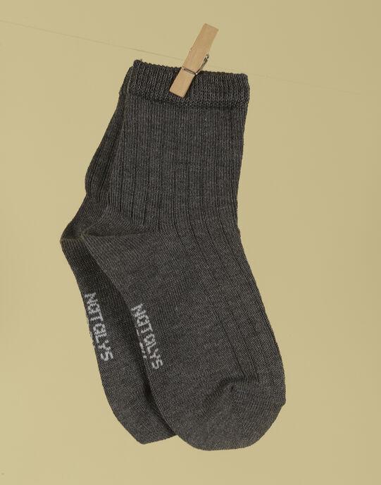 Chaussettes gris anthracite garçon TORELIEN 19 / 19VU6121N47944