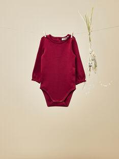 Body manches longues framboise bébé fille   VALANE 19 / 19IU1911N67308