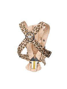 Porte bebe mini beige leopard coton PORTE BB LEOPAR / 20PBDP007PBB999