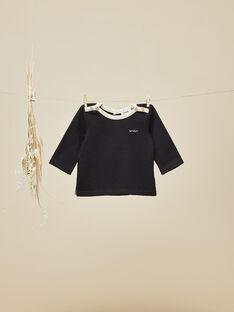 Tee-shirt manches longues noir garçon VOSGES 19 / 19IV2313N0F090