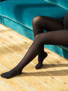 Collant de grossesse côtelé opaque noir 40 deniers LENA-EL / PTXW2512N22090