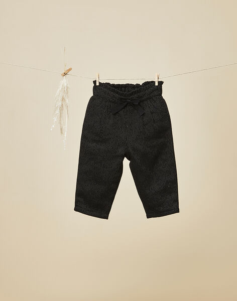 Pantalon noir en lainage bébé fille  VERA 19 / 19IU1911N03090