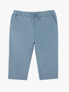 Pantalon bleu en coton et lin garçon CHAD 21 / 21VU2022N03216