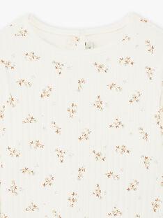 T-shirt côtelé imprimé fleuri coton biologique enfant fille DILETTE 468 21 / 21I129111N0F114