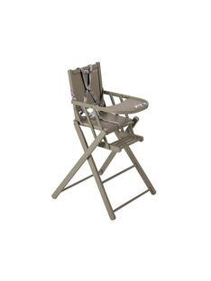 Chaise haute extra-pliante laquée gris CHAIS PLIANT GR / 15PRR2008CHH940