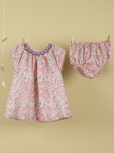 Robe et bloomer en Liberty rose et vanille fille TIKA 19 / 19VU193AN18114